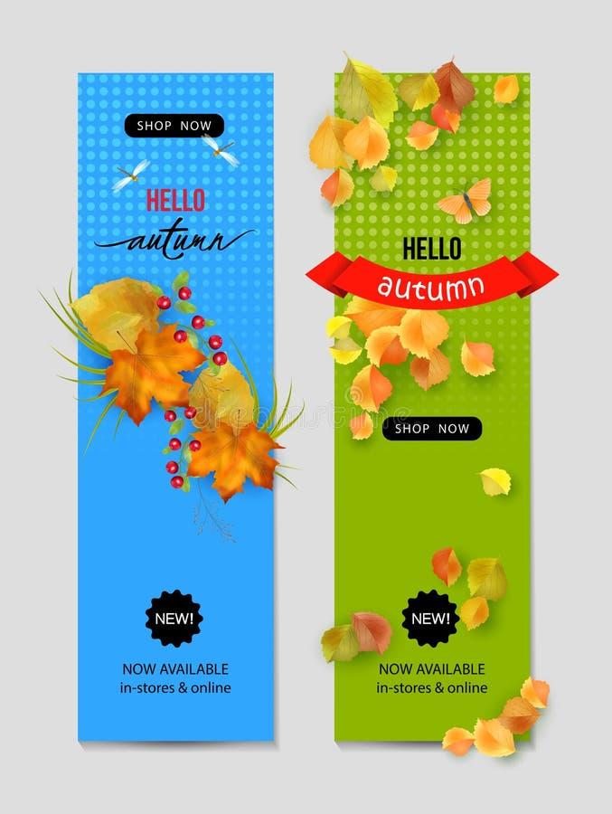 Jesień Reklamowy sztandar ilustracja wektor
