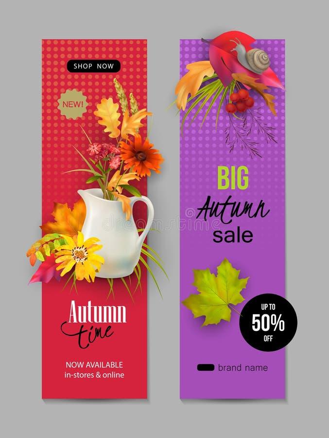 Jesień Reklamowy sztandar ilustracji
