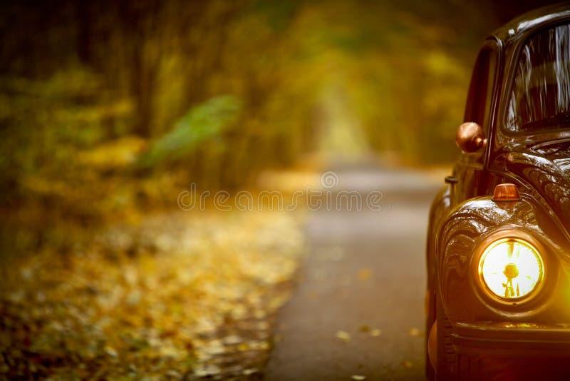 Jesień rocznika samochód zdjęcia royalty free