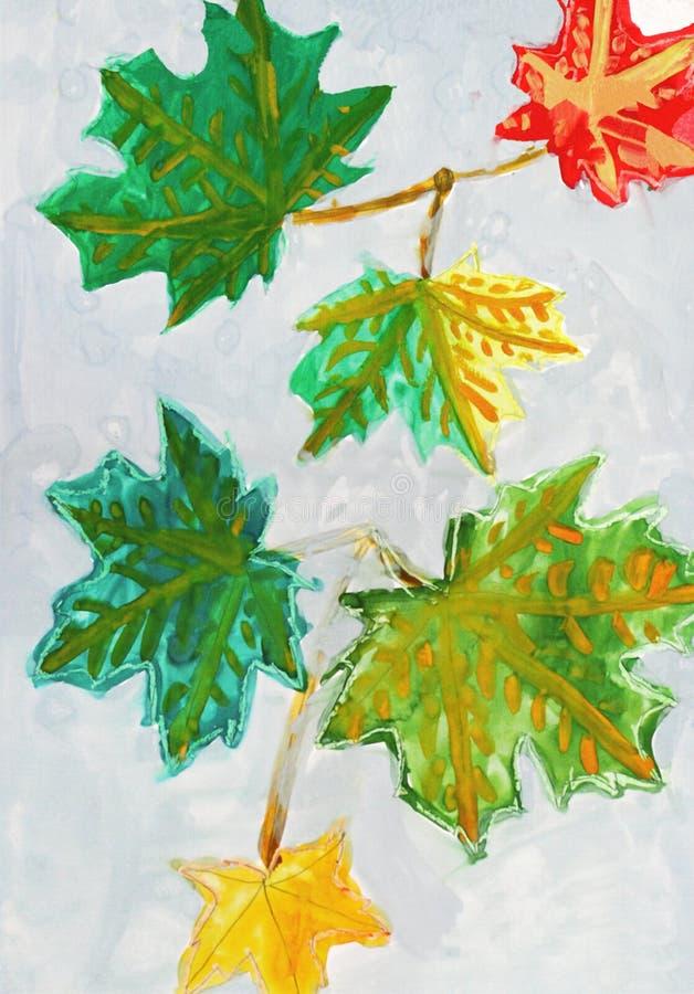 Download Jesień Rysunku Dzieciaka Liść S Ilustracji - Ilustracja złożonej z kolor, tło: 13330808