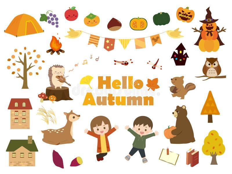 Jesień set2 ilustracji