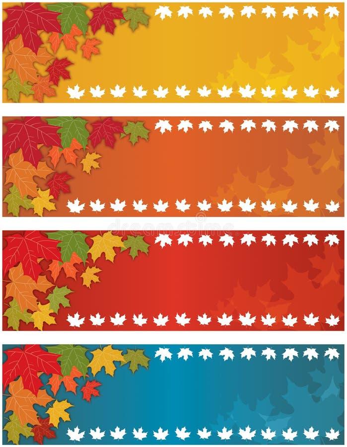 Jesień Spadek Sztandar ilustracji