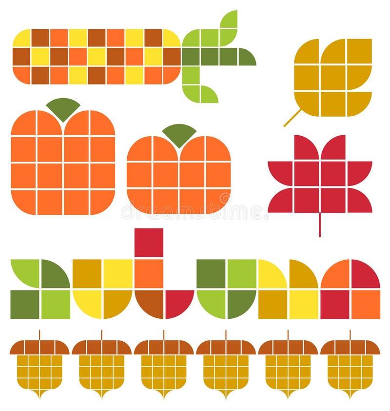 Jesień spadku set ilustracja wektor