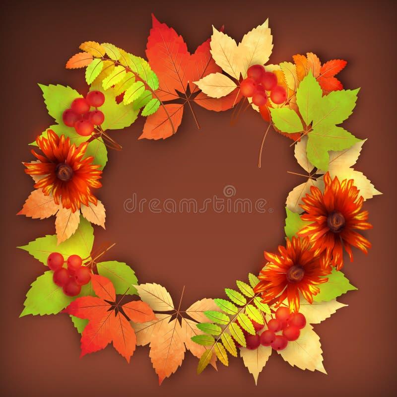 Jesień spadku Wektorowi liście ilustracja wektor