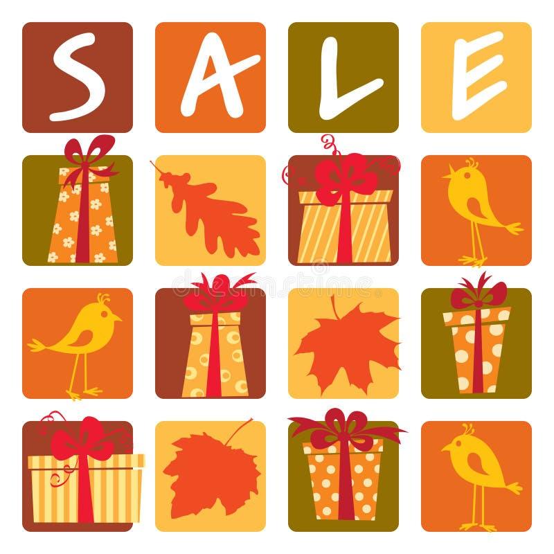 jesień sprzedaż ilustracji