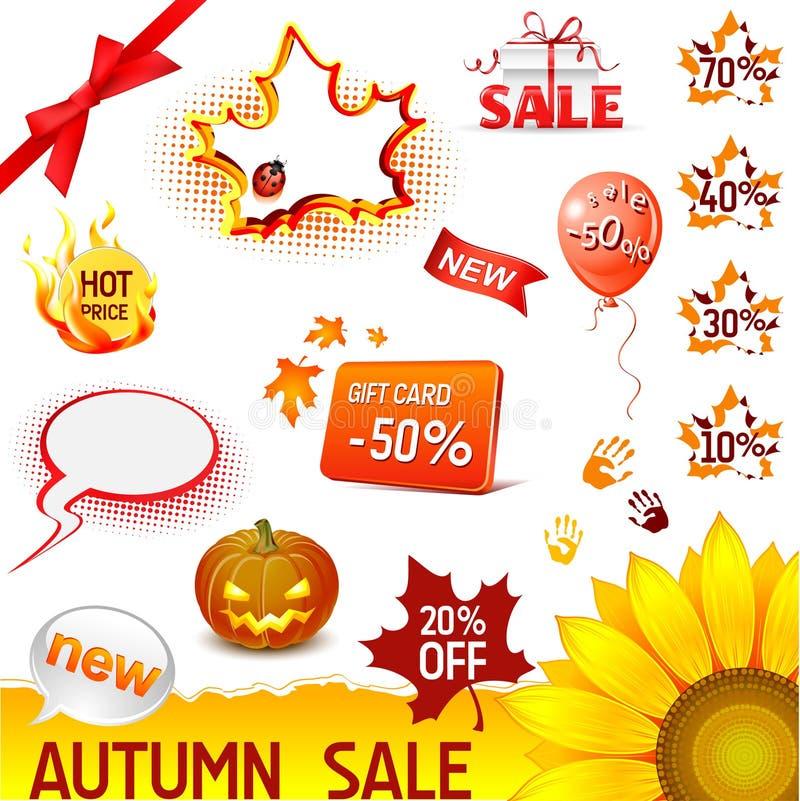 jesień sprzedaży set royalty ilustracja