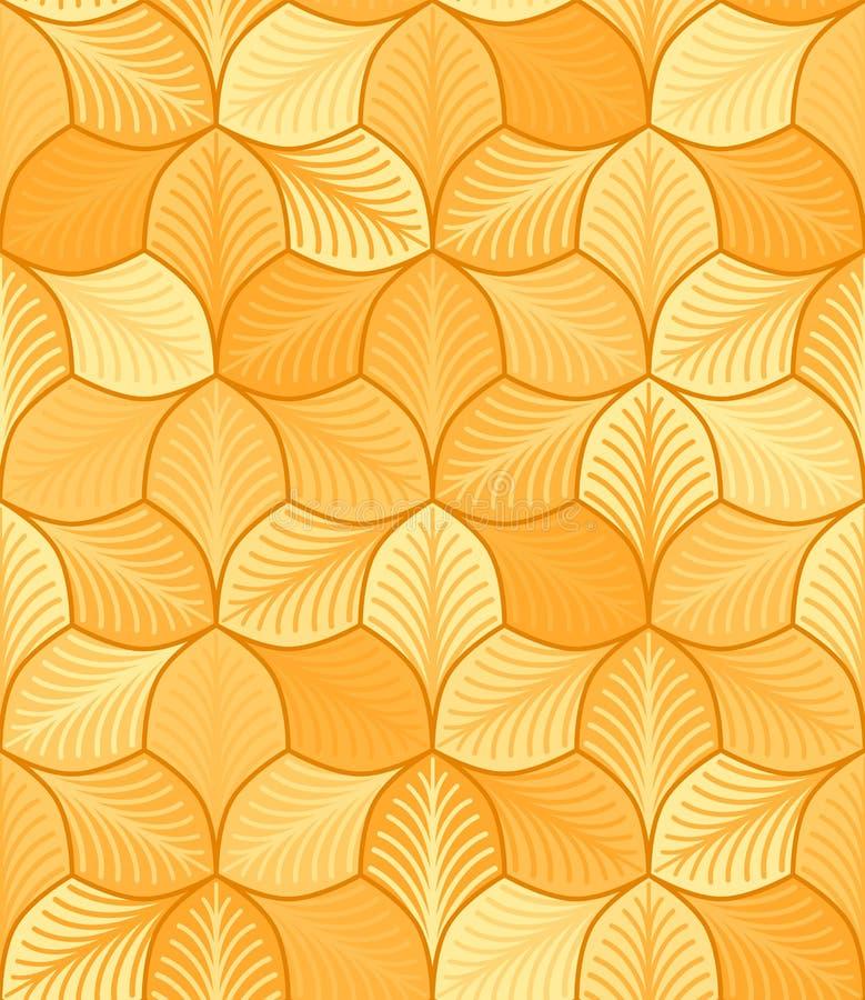 Jesień stylizujący liście z smugami wektor bezszwowy wzoru prosty ? ilustracji