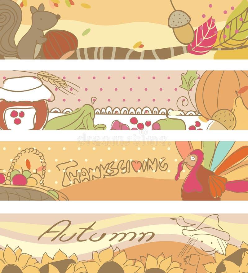 Jesień sztandary royalty ilustracja