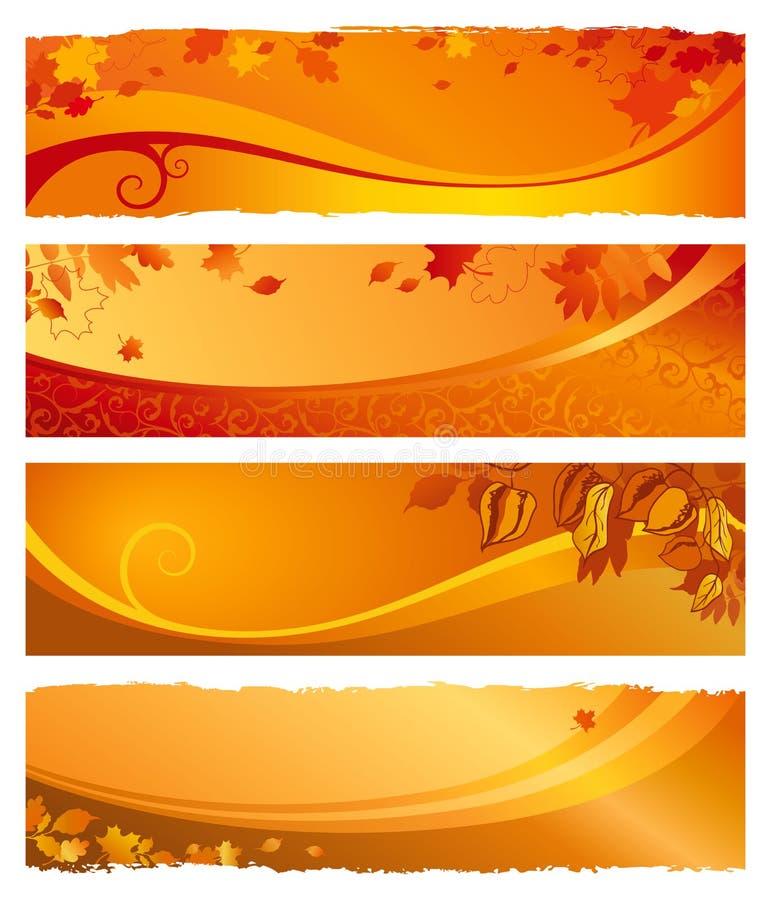 jesień sztandary ustawiający royalty ilustracja