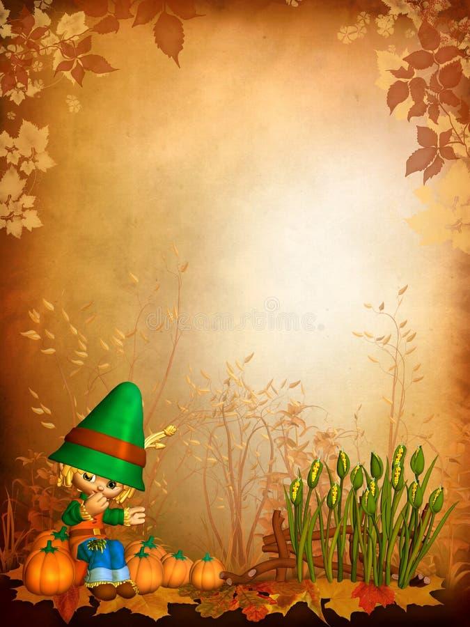 jesień tła chłopiec Toon ilustracji
