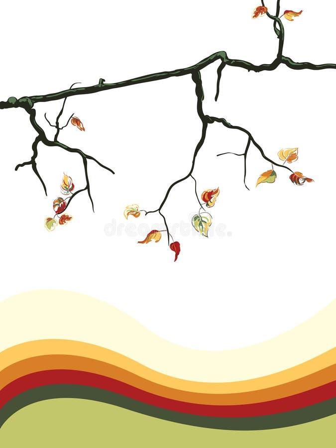jesień tła drzewo ilustracja wektor