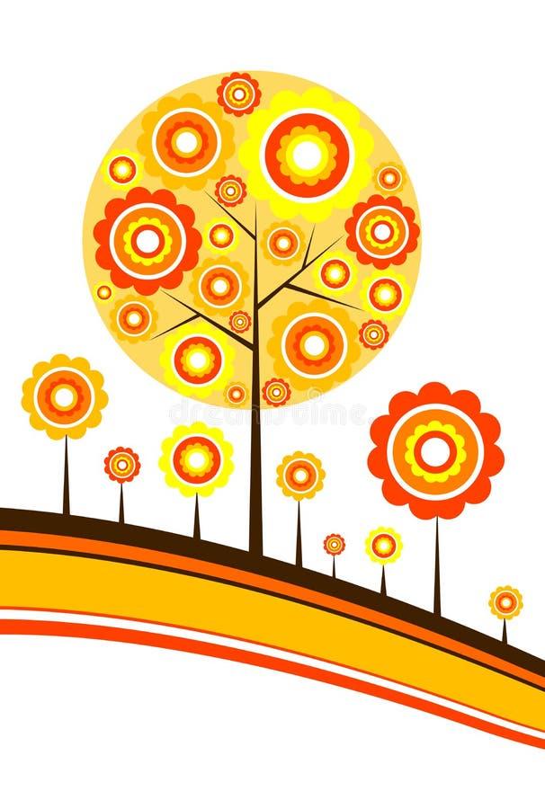jesień tła drzewo royalty ilustracja