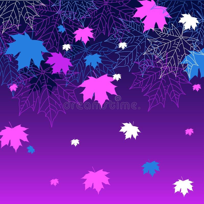 jesień tła eps8 wektor Purpury i błękitów kolory royalty ilustracja