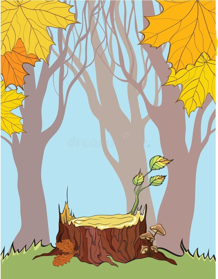 jesień tła fiszorek royalty ilustracja