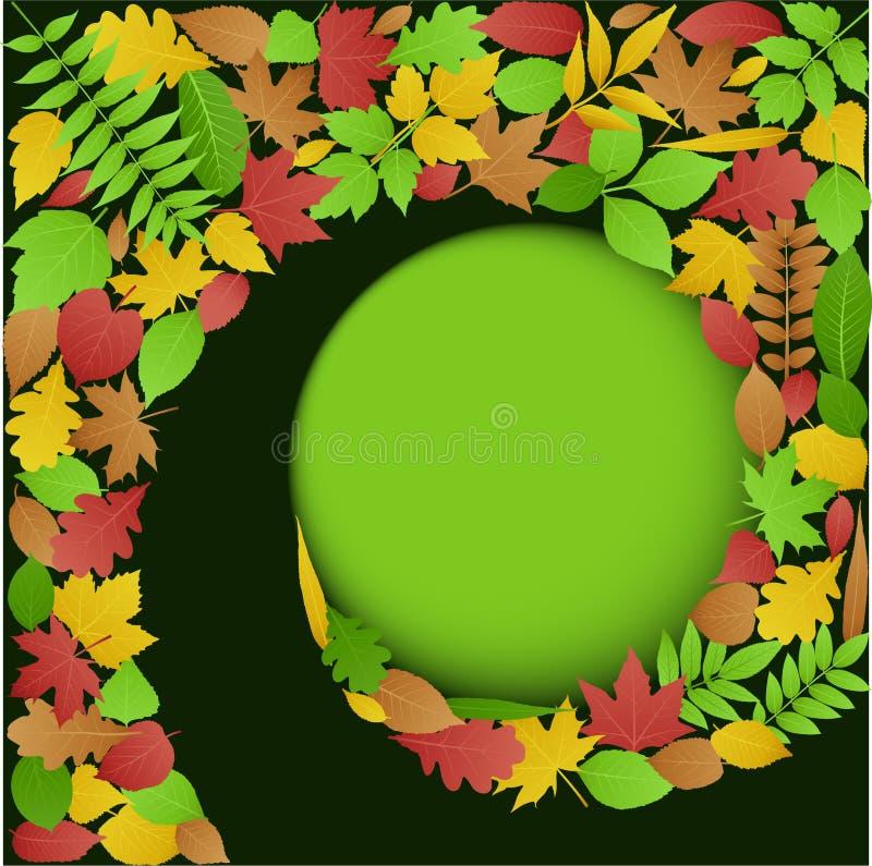 jesień tła liść spirala ilustracja wektor