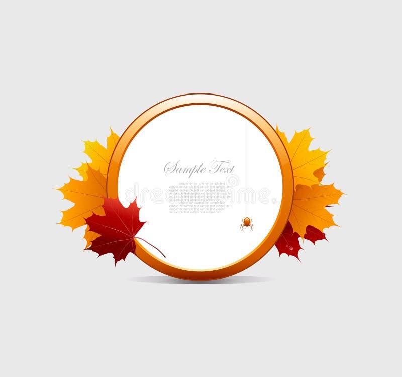 jesień tła rama ilustracja wektor