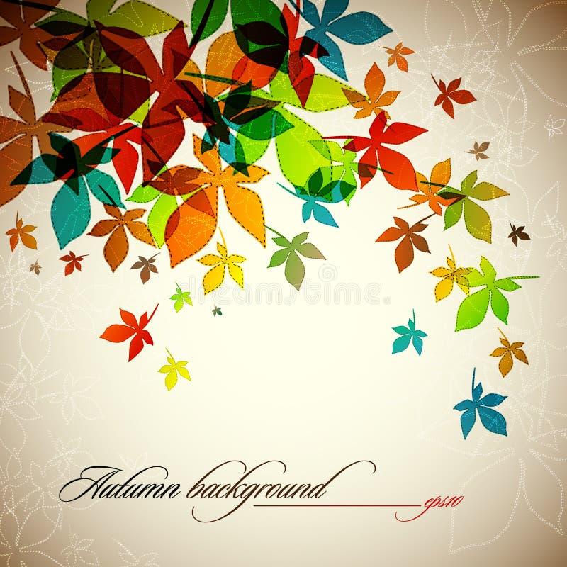 jesień tła spadać liść royalty ilustracja