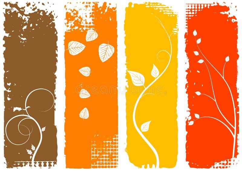 jesień tła sztandary ustawiają vertical ilustracja wektor
