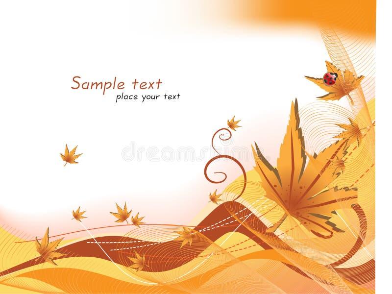 jesień tła wektor ilustracji