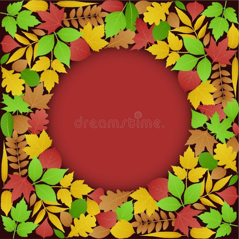 jesień tła zieleni liść royalty ilustracja