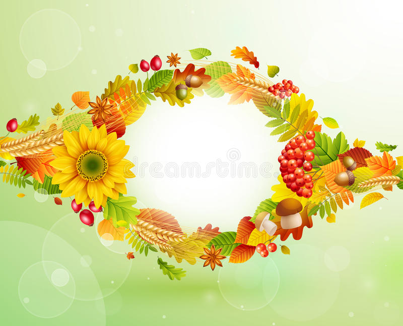 jesień tło ilustracja wektor