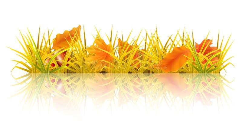 jesień trawa royalty ilustracja