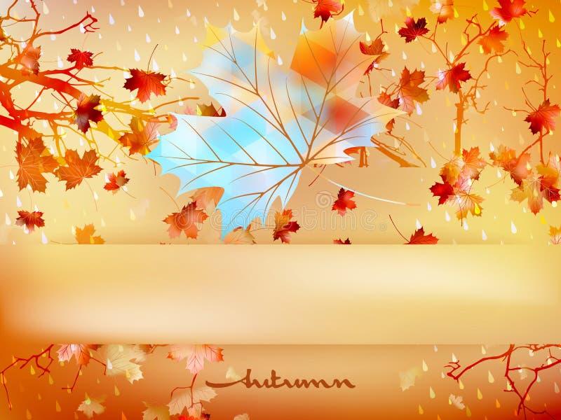 Jesień urlop robić trójboki 10 eps ilustracja wektor