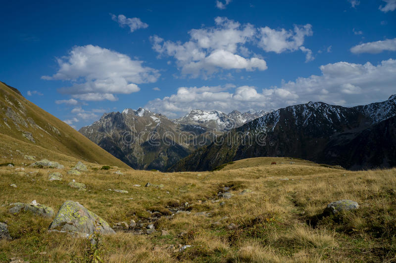 Jesień w górach Arhyz zdjęcia stock