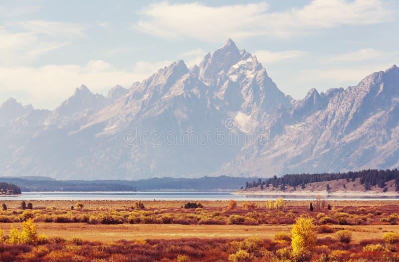 Jesień w Uroczystym Teton obraz royalty free