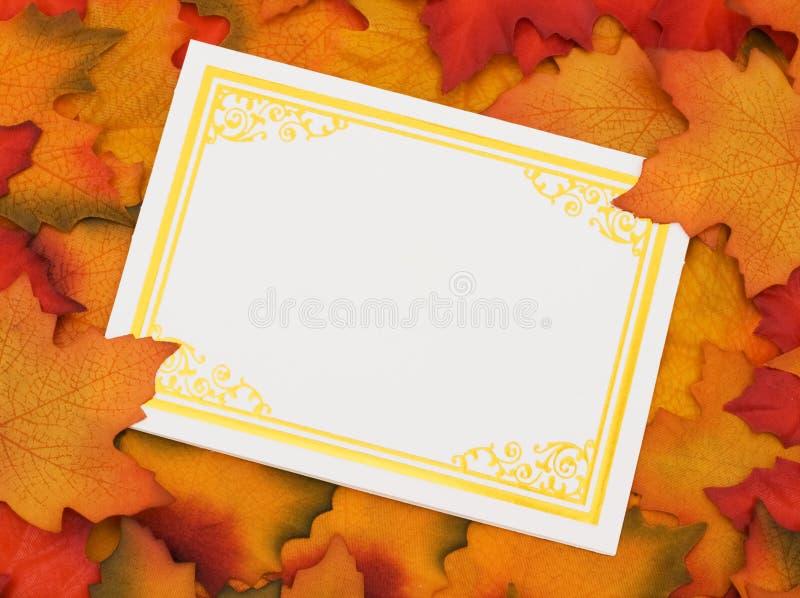 Jesień wiadomość zdjęcie stock