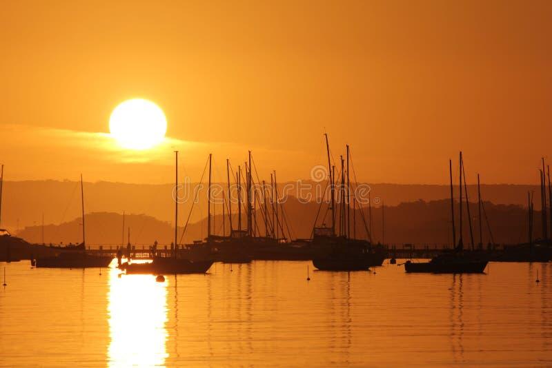 Jesień wschód słońca fotografia stock