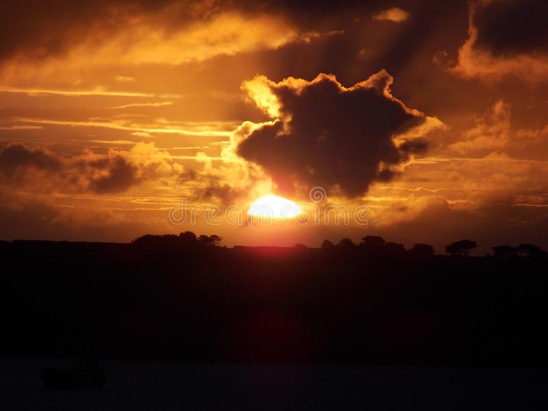 Jesień wschód słońca 2015 zdjęcia royalty free