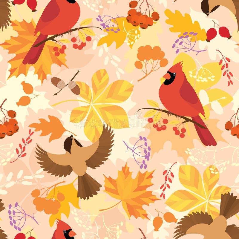 jesień wzór ilustracji