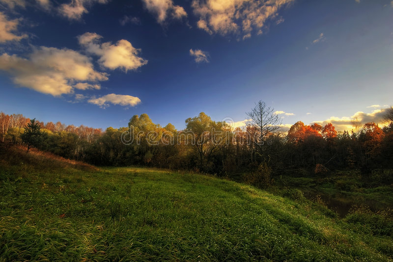 jesień wzgórza widok zdjęcie royalty free
