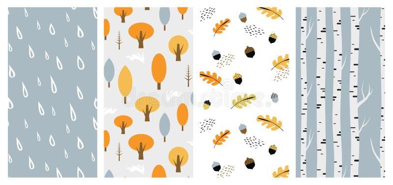 Jesień wzoru set Doskonalić dla tapety, prezenta papier, deseniowe pełnie, strony internetowej tło, jesieni kartka z pozdrowienia