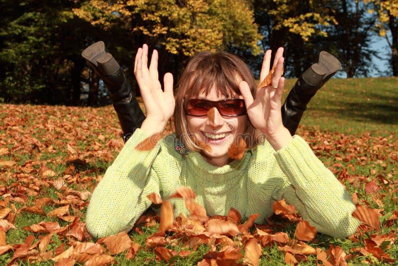 Jesień zabawa obrazy stock