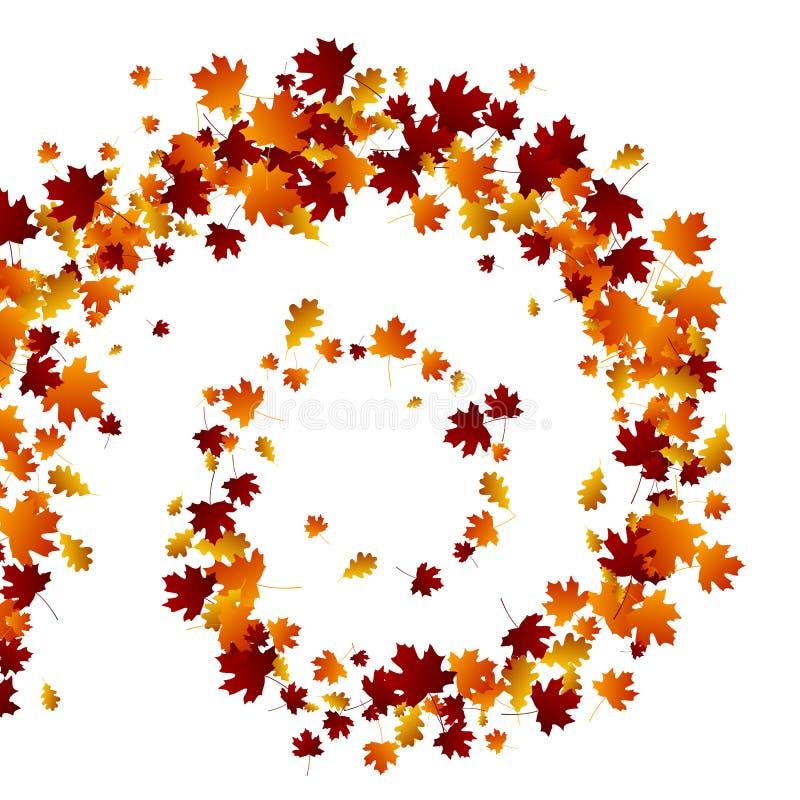 Jesień zawijasa liście ilustracji