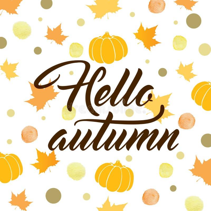 jesienią abstrakcyjne tło royalty ilustracja
