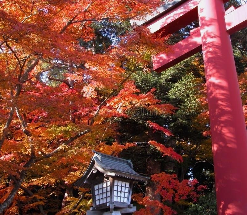 jesienią bramy świątyni zdjęcia royalty free