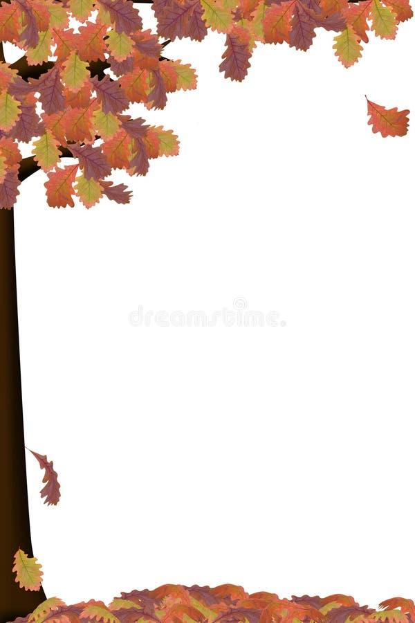 jesienią drzewa royalty ilustracja
