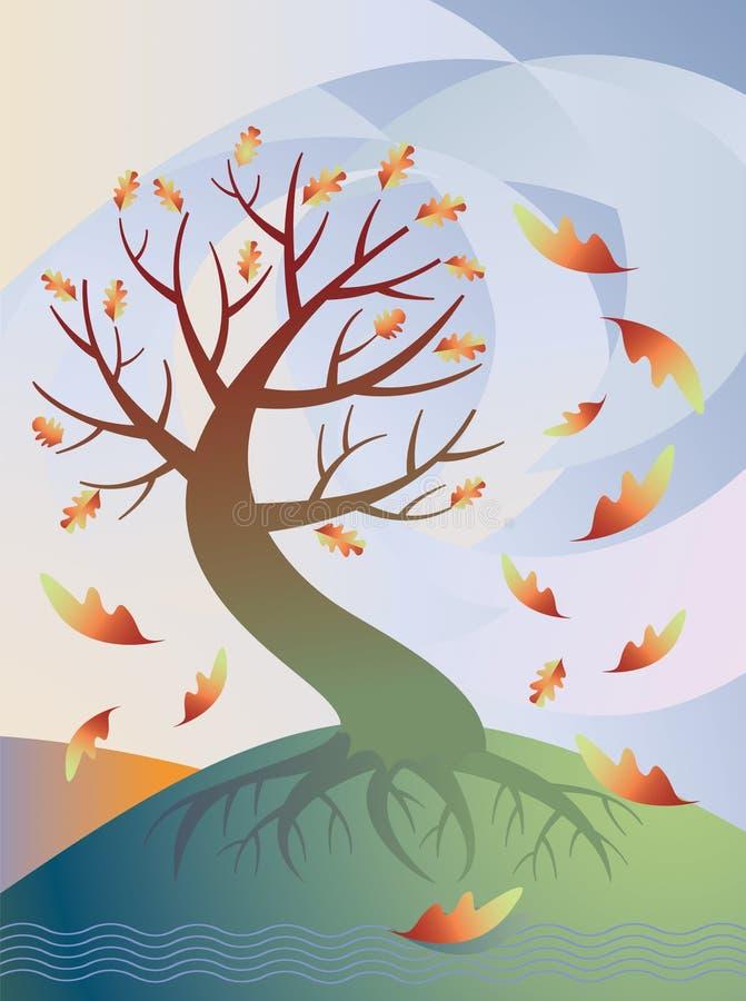 jesienią drzewo royalty ilustracja