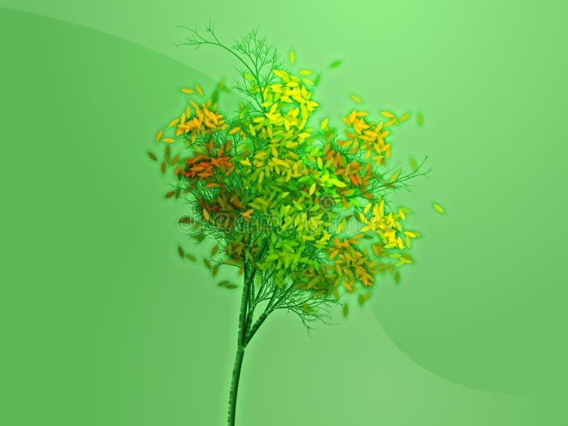 jesienią drzewo ilustracja wektor