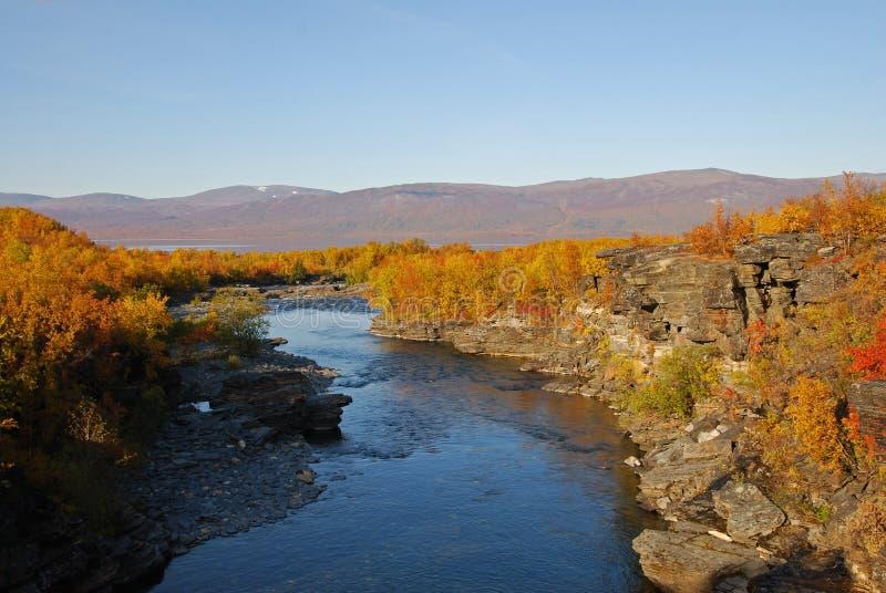 jesienią krajobrazowa rzeki obrazy royalty free