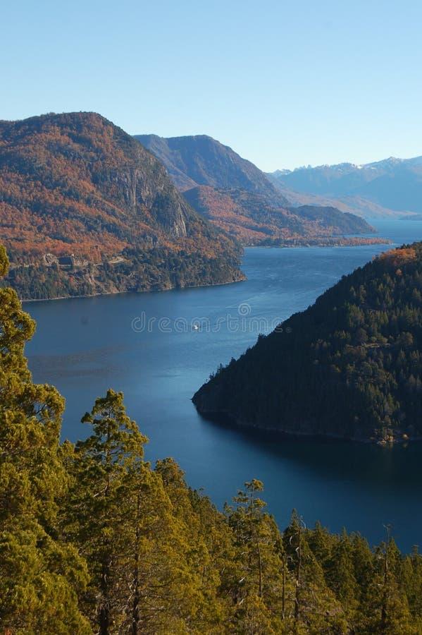 jesienią lacar jeziora obraz royalty free