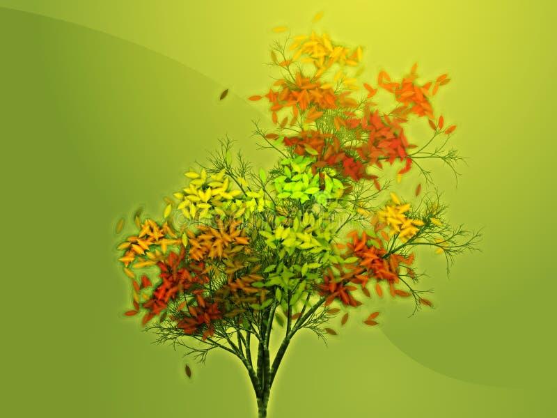 jesienią obfitolistny drzewo ilustracja wektor