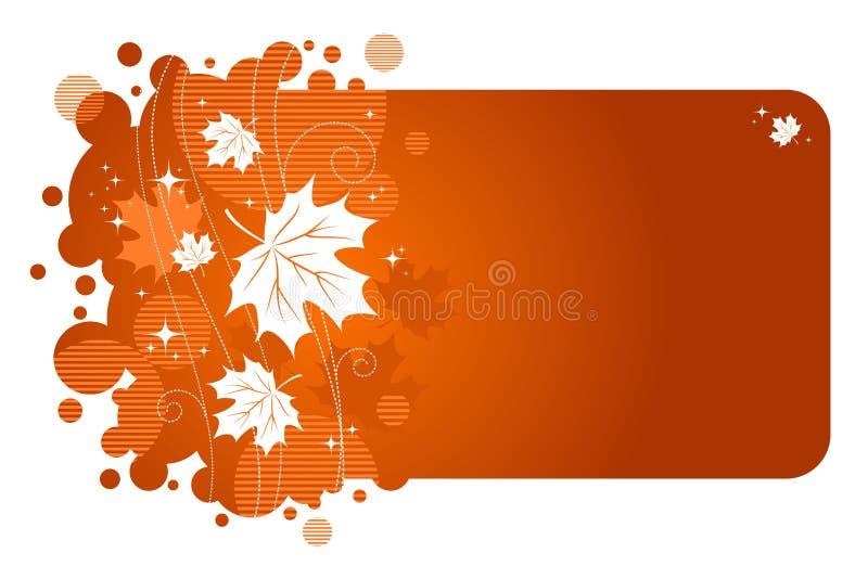 jesienią rama royalty ilustracja