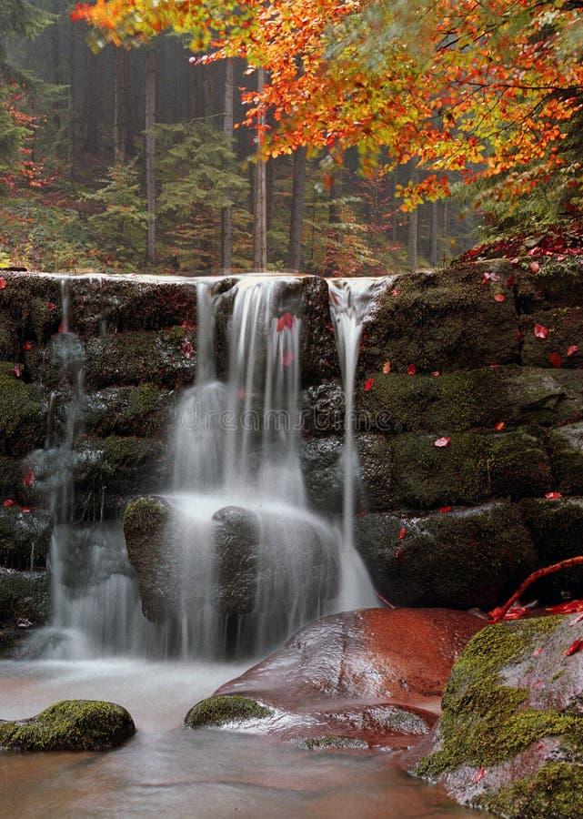 jesienią wodospadu obrazy stock