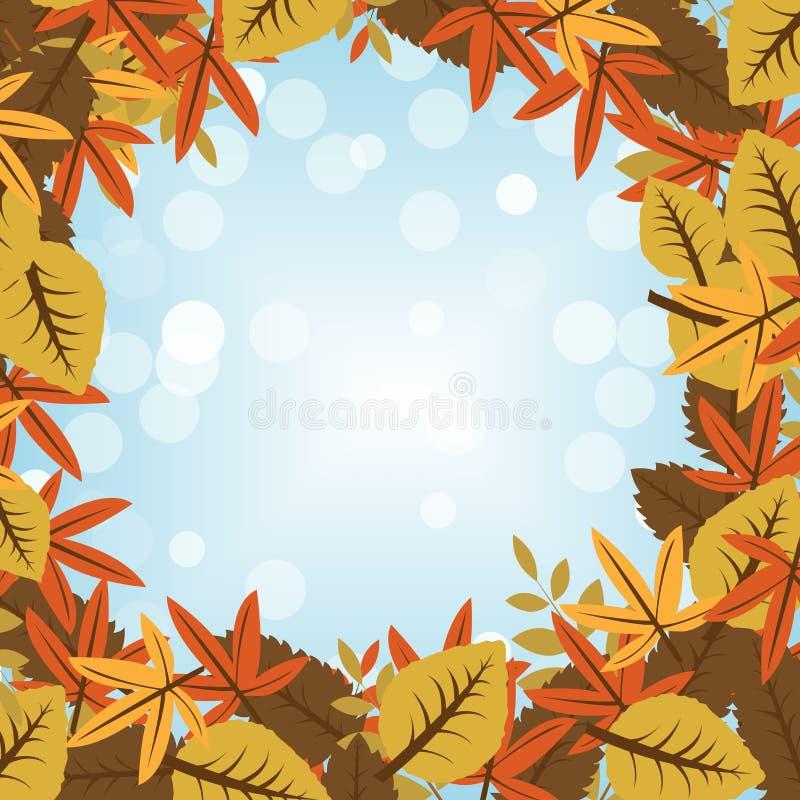 jesienią zbliżenie kolor tła ivy pomarańczową czerwień liści ilustracja wektor
