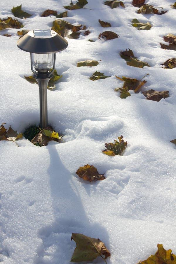 Jesieni śnieżna burza obrazy royalty free