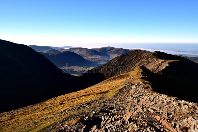 Jesieni światło słoneczne na Gasgale Crags fotografia royalty free